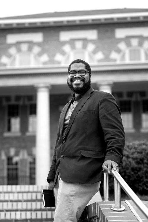 """Tyree Daye - In the first draft of """"I Don't Know What Happens to Fields"""" there is a big tactic lime green thread running through it trying to hit every corner of the narrative. In the final version the thread is black, thinner and in the wind."""