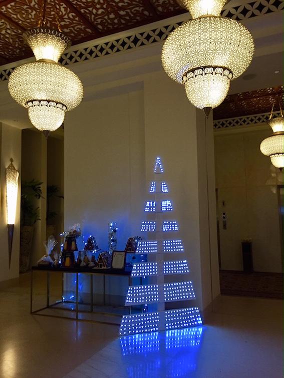 Christmas tree, gingerbread houses, and other baking at The Park Hyatt, Zanzibar, Tanzania. 2017