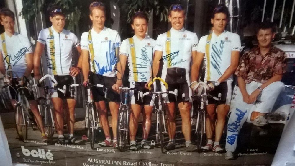 The Caravello joinery team for the 1997 Commonwealth Bank Classic.