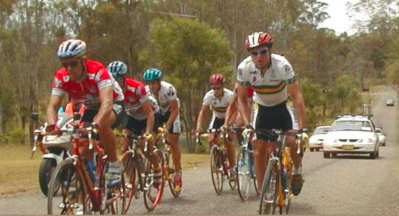 Bart leading the charge at the 1999 Oceania championship.