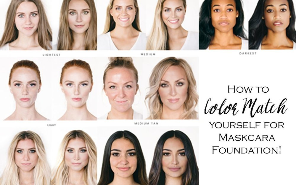 Maskcara Color Match Chart