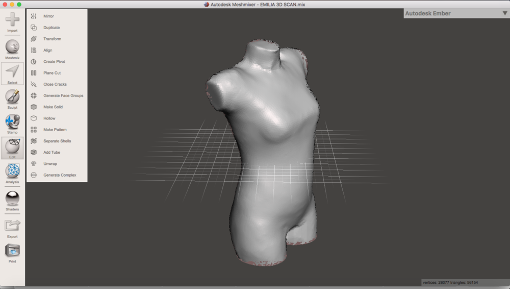I used the command  Close Cracks  to make sure the mesh was closed.