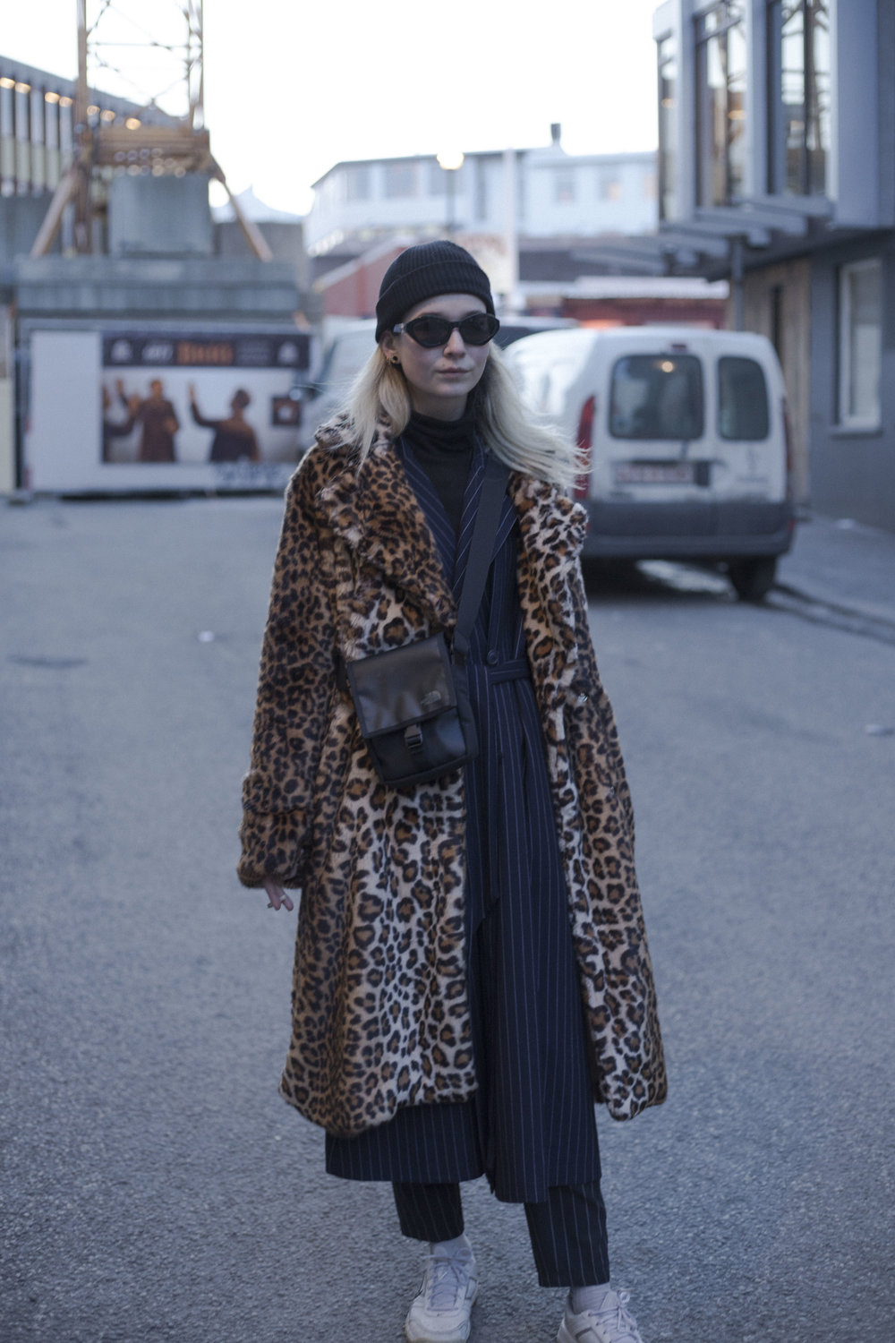 On the streets of Reykjavik. Stylish layering with 2ndday jacket and northface bag