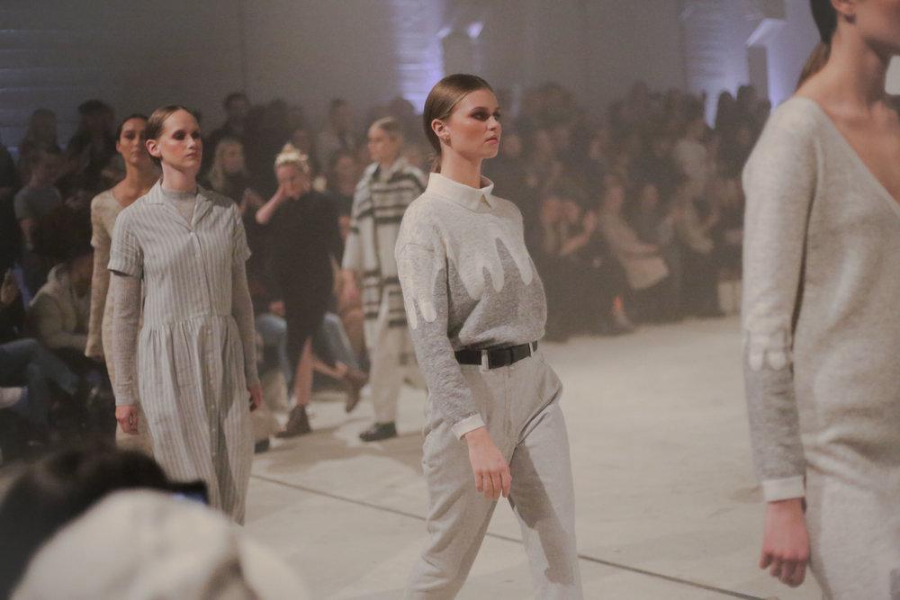 The fashion brand Geysir fashion show under Reykjavik fashion week summer 2017. Wool garments designed with inspiration from the Icelandic nature.