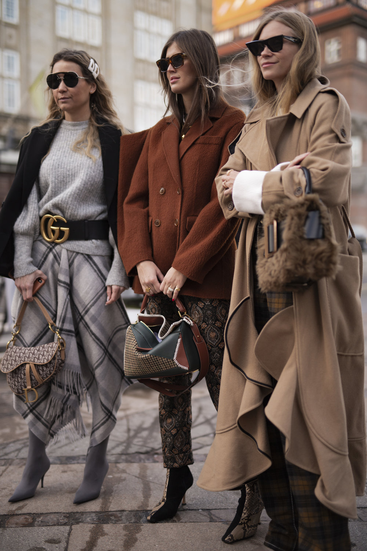 The best streetyle Copenhagen. Tine Andrea and Darja Barannik on the streets of Copenhagen during Fashion Week