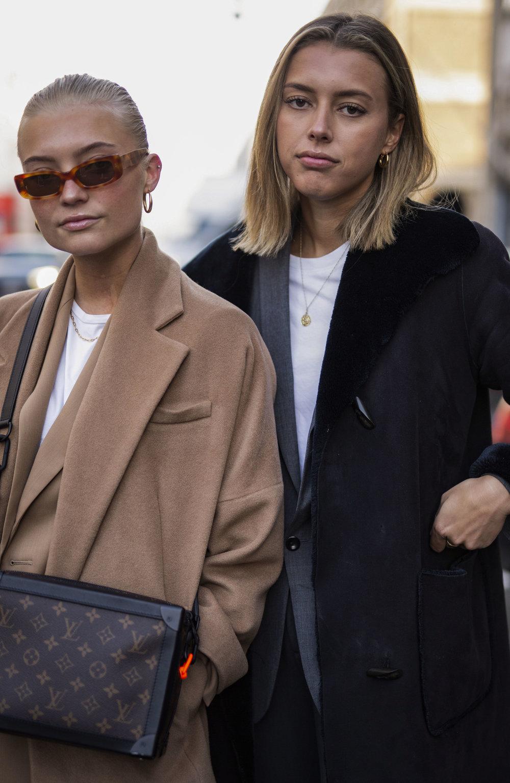 Cool danish girls on the streets of Copenhagen during Fashion week