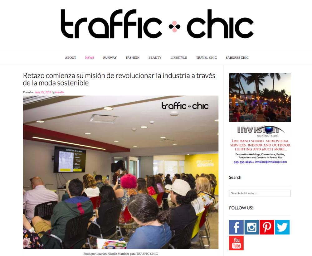 Traffic Chic: Retazo Comienza su Mision
