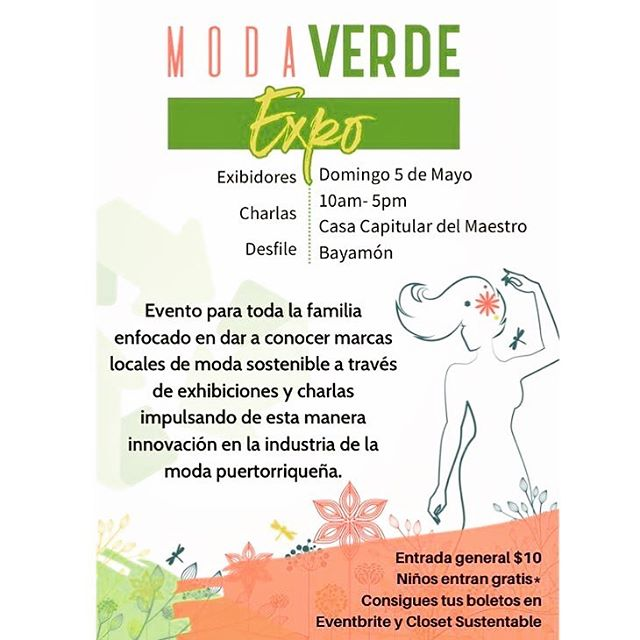 Nuestro nuevo evento en calendario es @modaverdeexpo a celebrarse el proximo 5 de Mayo en la Casa Capitular Del Maestro en Bayamon, #puertorico | @retazo.co tendrá su booth y @auralis , nuestra Chief Knowledge Officer y representante de @fash_revpr, estará ofreciendo una charla sobre #Moda #Sostenible. #modasostenible #desarrollosostenible #economiacircular #sustainabledevelopment #sustainablefashion . . . #Gracias a @closetsustentablepr por la invitación!! Para taquillas 👉👉 https://bit.ly/2UIy3lp