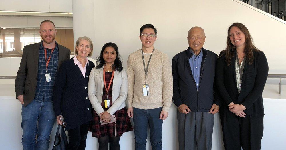 Greg Neely, Anne Chong, Reena Singh, Lipin Loo, John Chong and Leslie Caron; CPC June 2018