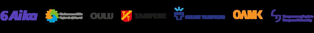 6Aika, Uudenmaan liitto, Oulun kaupunki, Tampereen kaupunki, Oulun yliopisto, Oulun ammattikorkeakoulu, Tampereen yliopisto