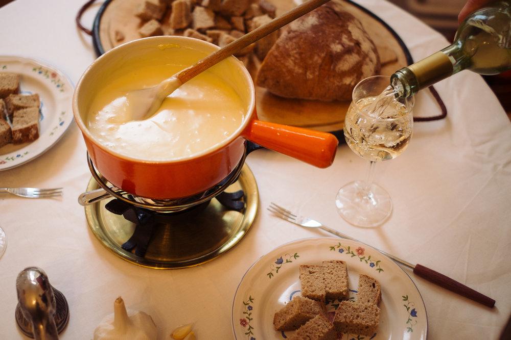 Im Team feiern mit Fondue & Raclette -