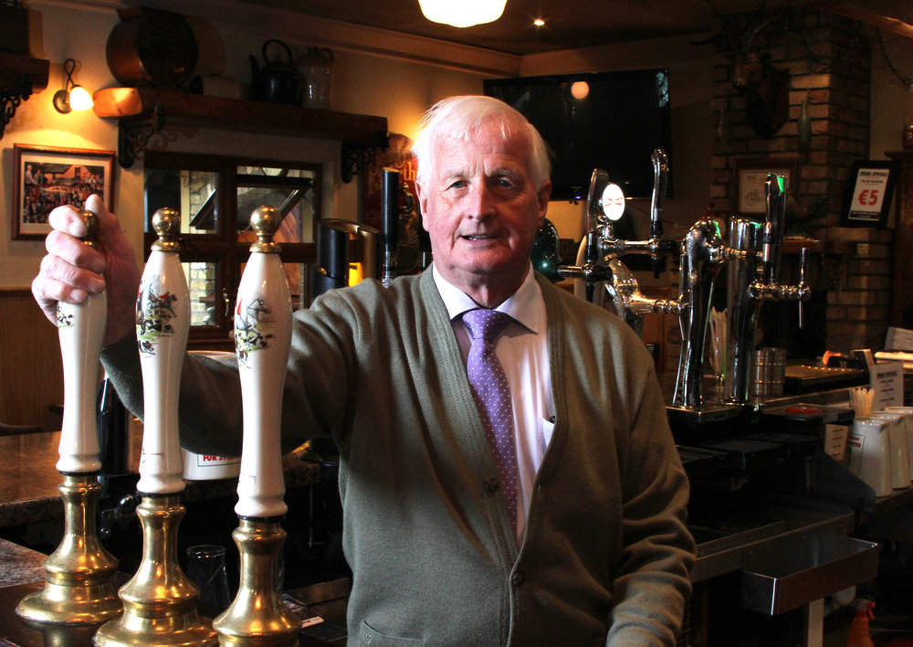 Patsy Swan, at the taps in the main bar of Swans