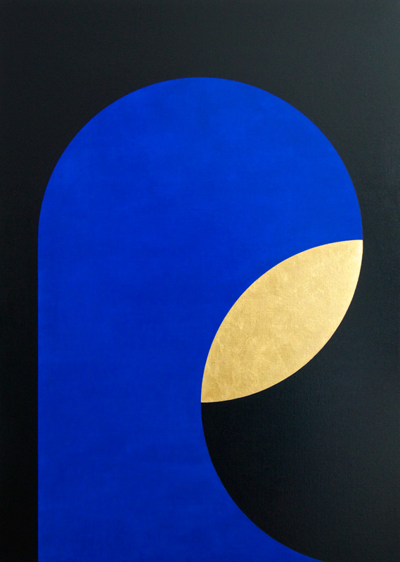 NOTHING OUTSIDE 100 x 140 x 4,5 cm Oil & gold leaf on canvas 2017  ropp schouten