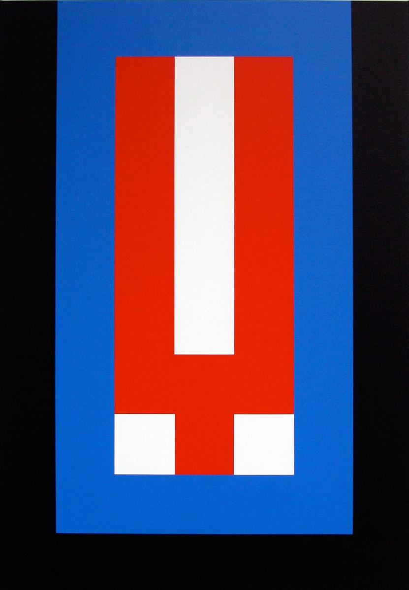 YOU — IN(set) 70 x 100 x 3,5 cm Acrylic on canvas 2017  ropp schouten