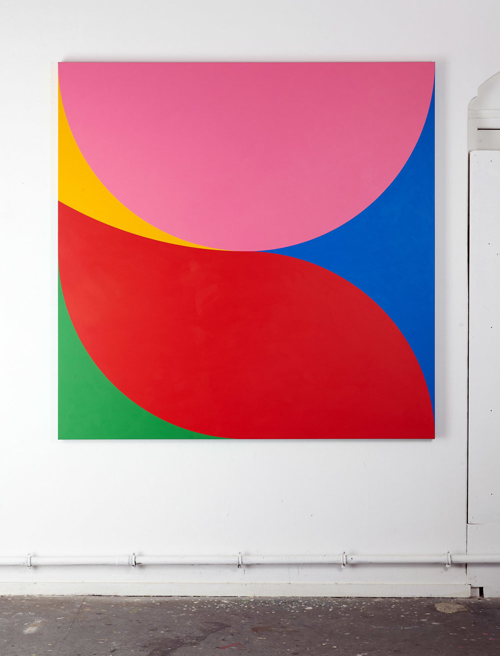 I of V  180 x 180 x 4,5 cm Acrylic on canvas 2018     Photo: Wijnand van Till