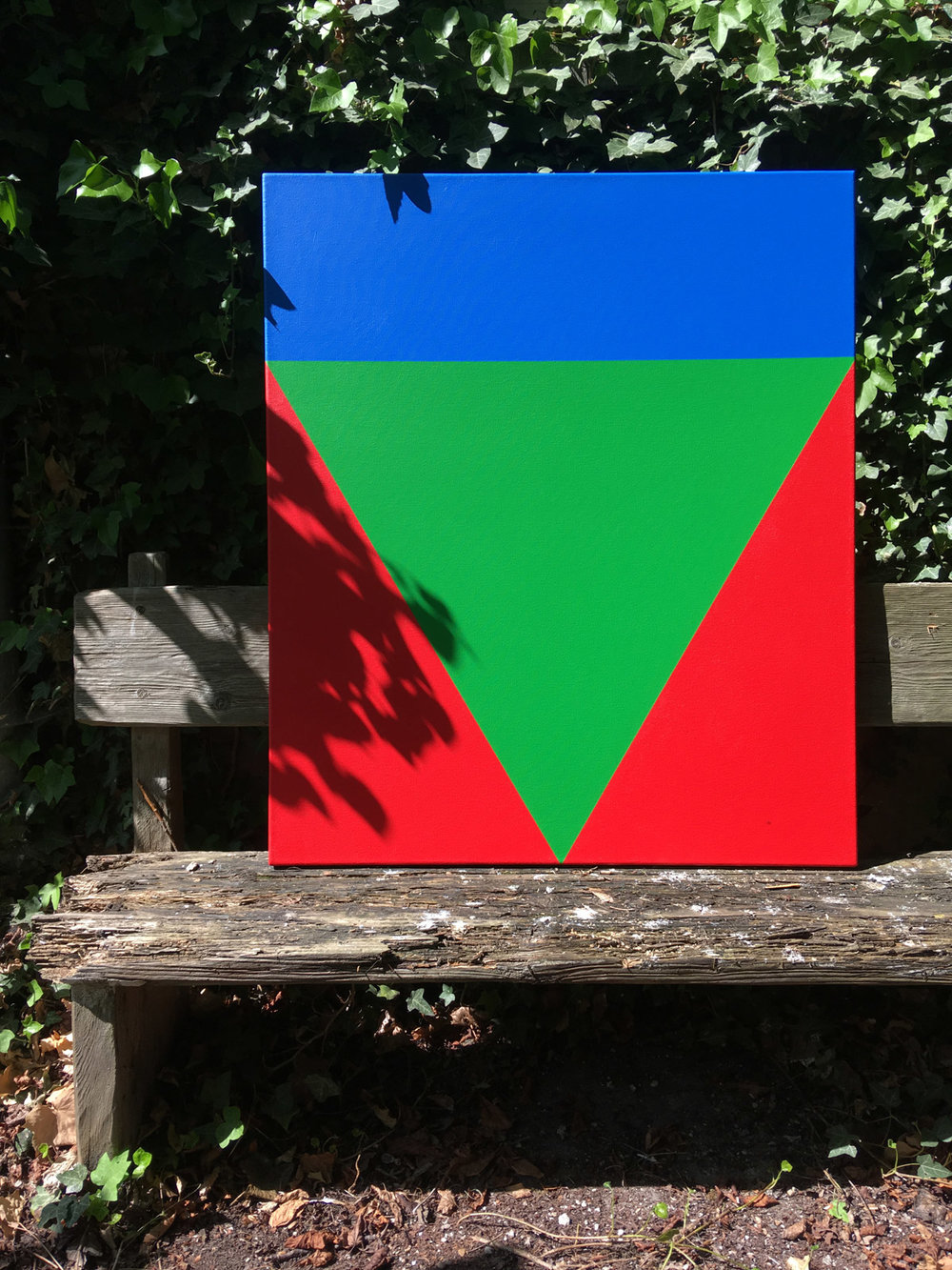 Green between   85 x 100 cm Acrylic on cotton