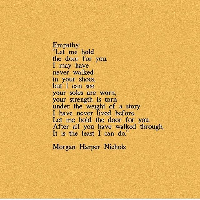 . This! 🙌🏻🙌🏻🙌🏻 . Kindness is everything. Empathy is key. . @morganharpernichols