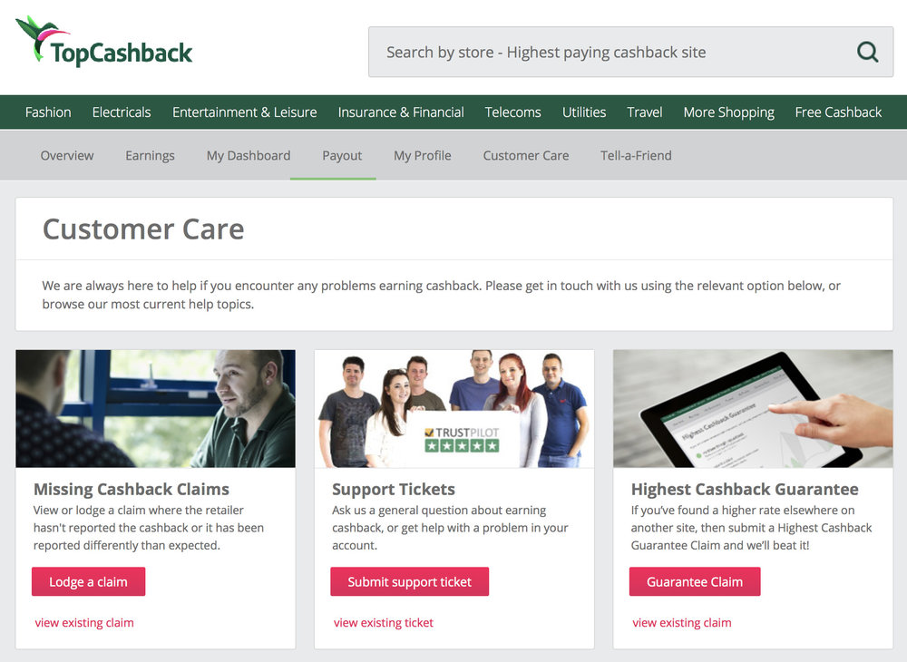 TopCashBack Missing Cashback: How To Get It Back