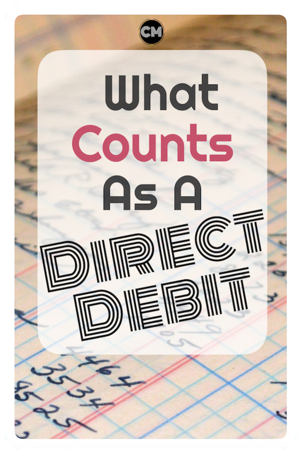 What Counts As A Direct Debit