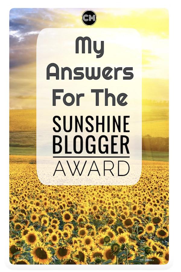 Sunshine Blogger Award Pin