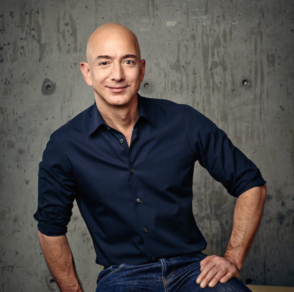 Jeff Bezos - Born: January 12th, 1964 in Albuquerque, New MexicoNet Worth: $131Bn (March 2019)Founder, Chairman, CEO and President of Amazon