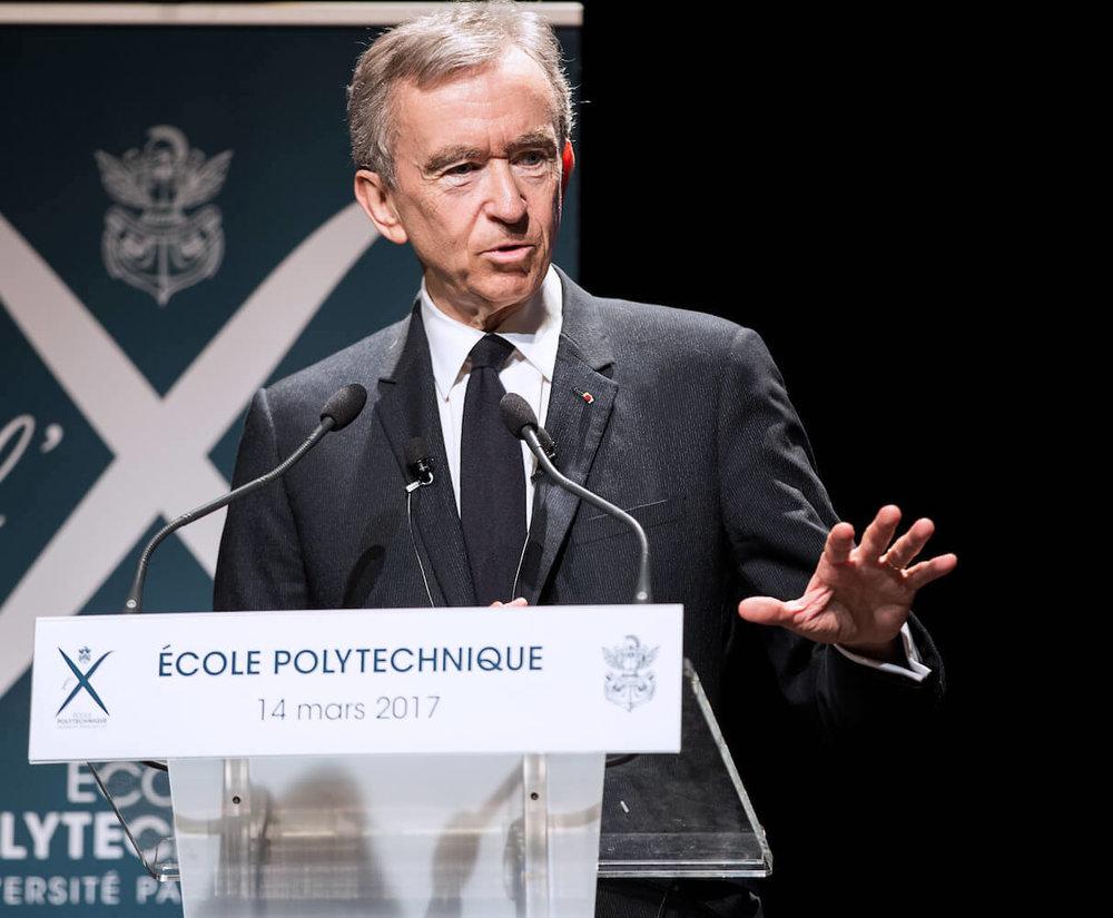Bernard Arnault - Born: March 5th, 1999 in Roubaix, FranceNet Worth: $76Bn (March 2019)Chairman and CEO of LVMH. Chairman of Christian Dior SA