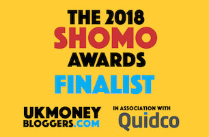 SHOMOs 2018 - UK Money Blogger Award - Nominated For Best New Blog