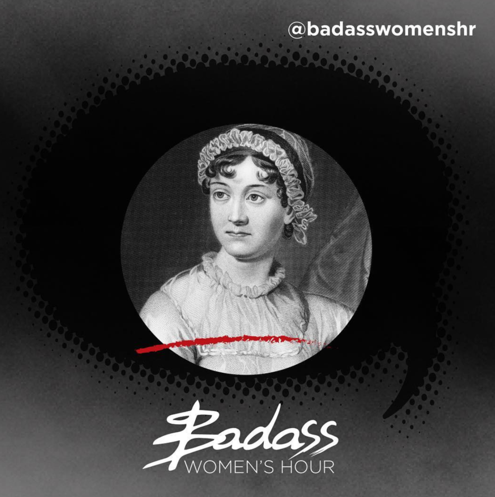 badass women's hour - Kate is a guest on TalkRadio's Badass Women's Hour, talking to hosts Harriet Minter, Natalie Campbell and Emma Sexton about why Jane Austen is an historical badass (around the 38 minute mark).