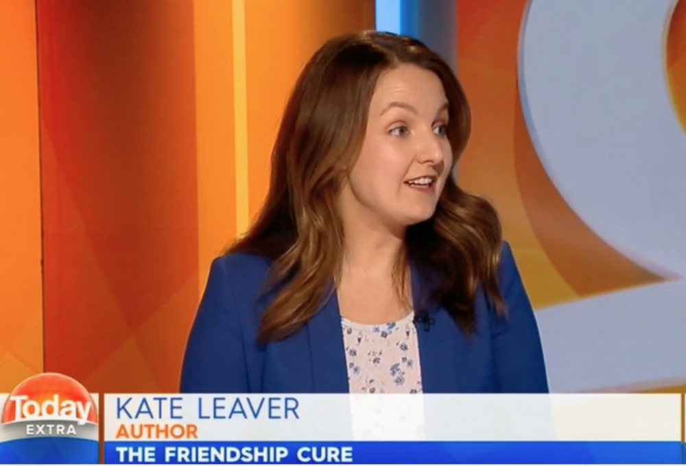 australian telly - Kate appeared on The Today Show, The Daily Edition, ABC News Breakfast and Studio 10. This is a showreel of highlights.