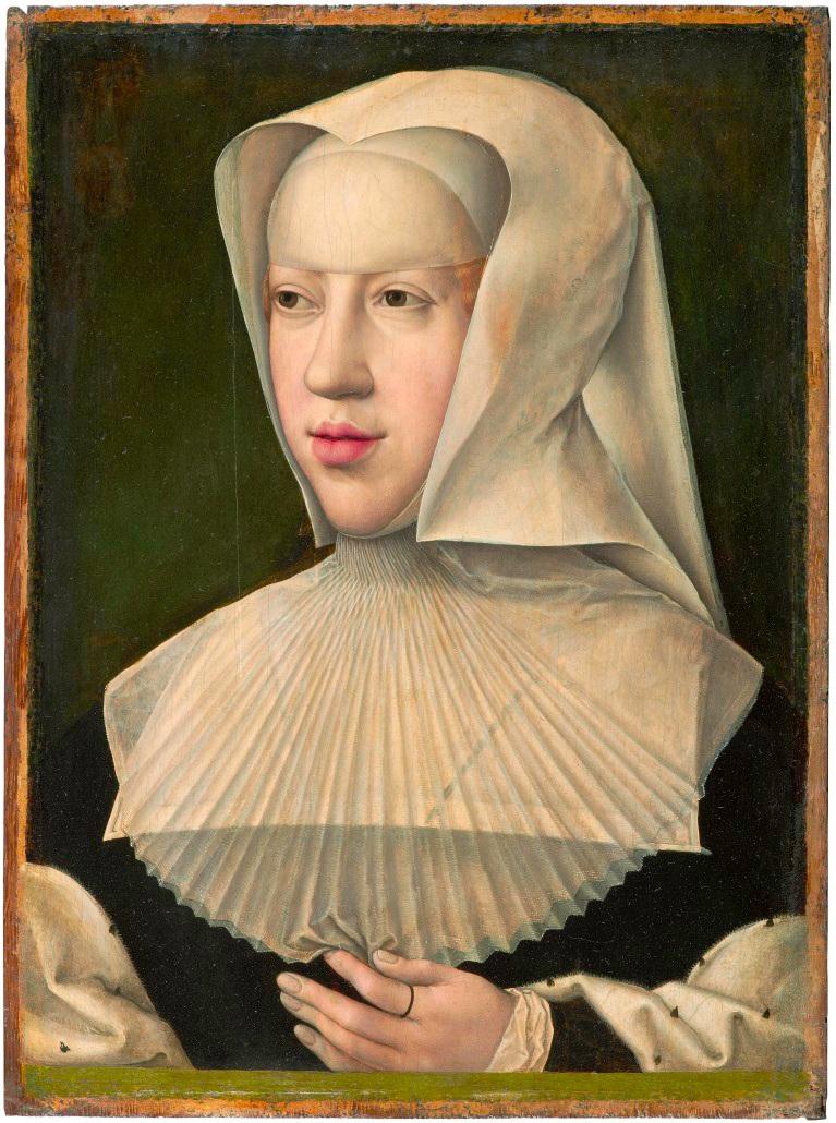Marguerite de Savoie (d'Autriche)  par Bernard Van Orley (Musées Royaux des Beaux-Arts de Belgique)