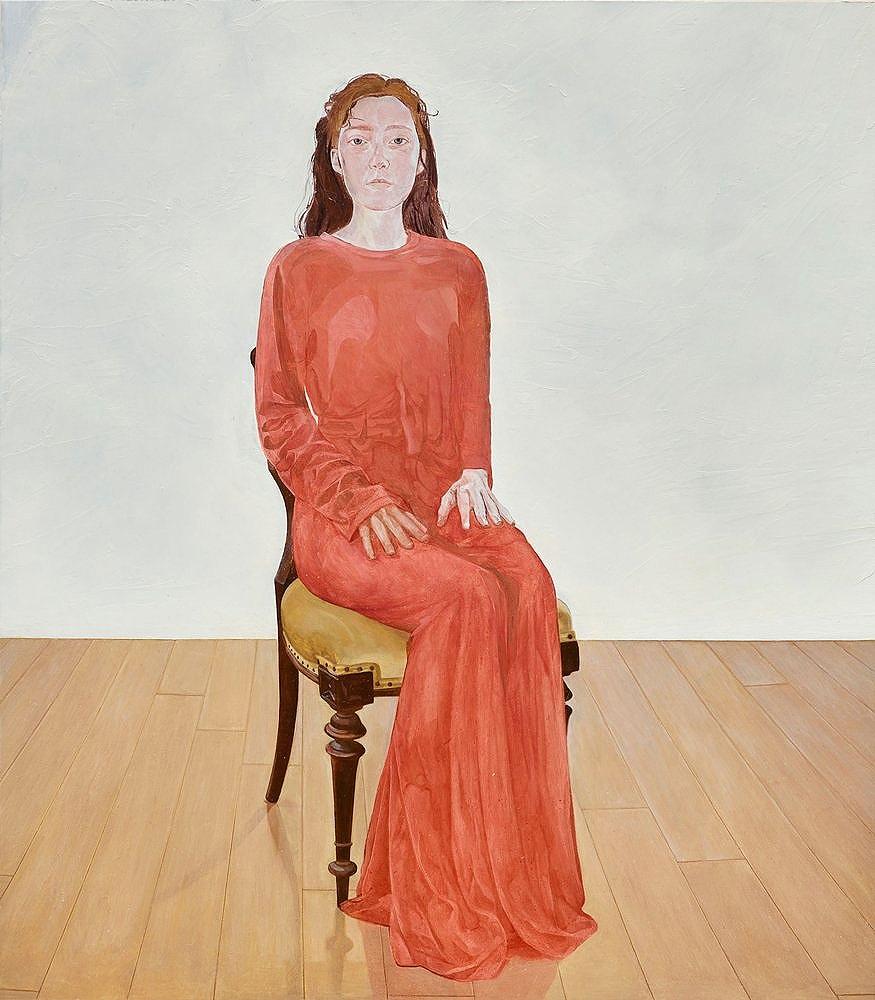 'Dear Frida,' (2018) oil on copper, 51.5 x 58.5 cm (framed)