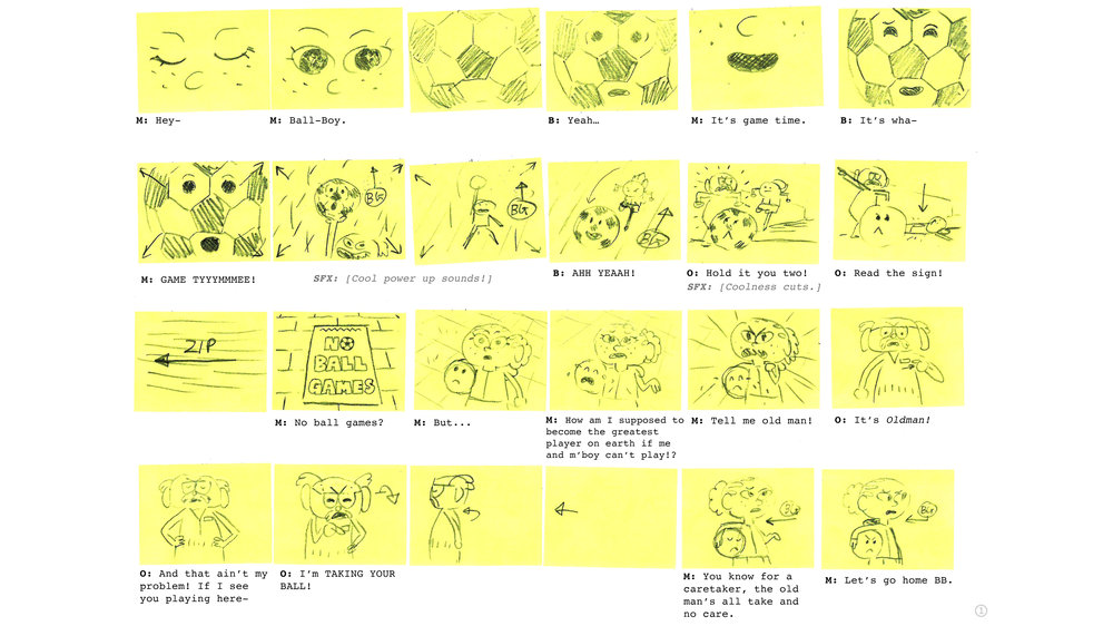 Disney XD • No Ball Games • StoryBoards • Paul Layzell