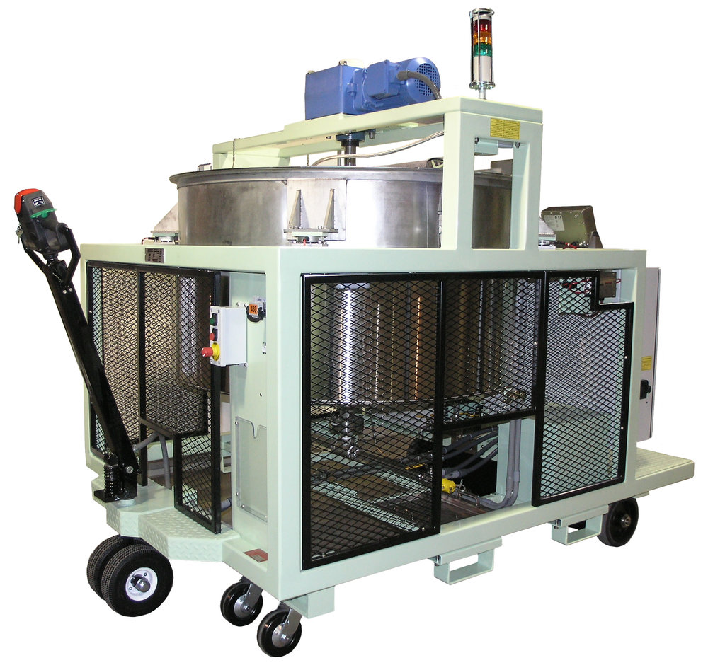 JACKETED MOBILE MIXING TANK