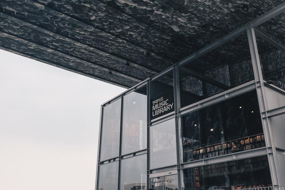 The Hyundai Card Music Library in Itaewon is pretty damn beautiful music concept, a Korean 'must go'