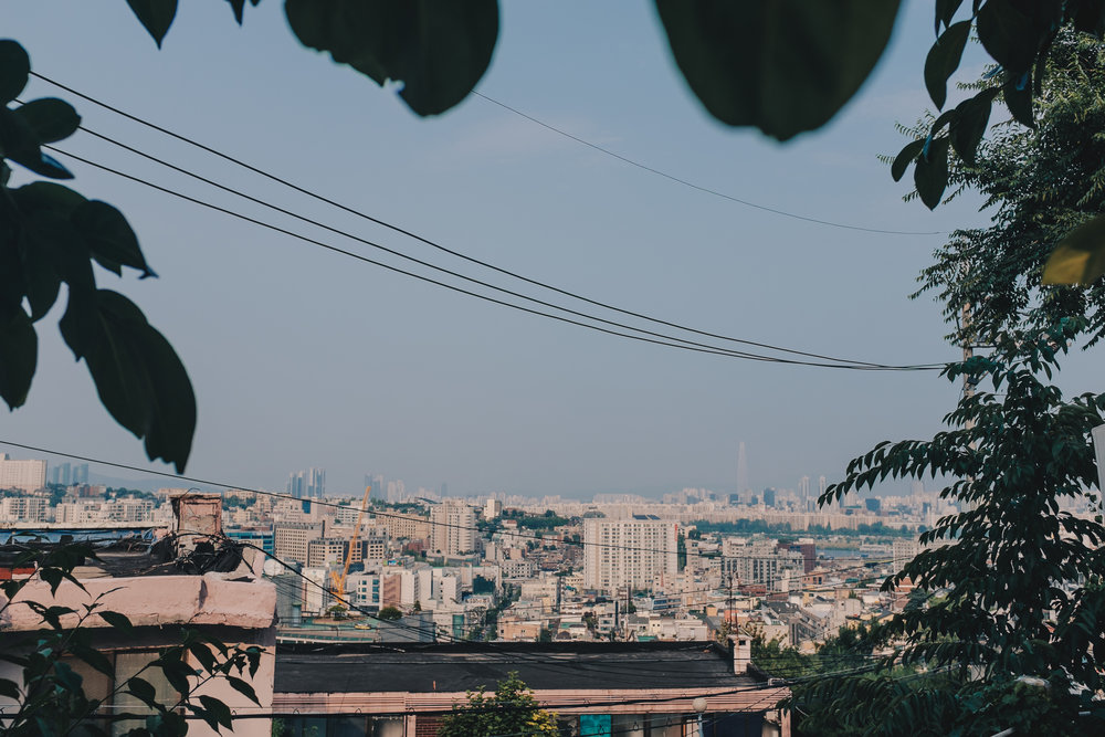 The view overlooking Seoul's Itaewon district