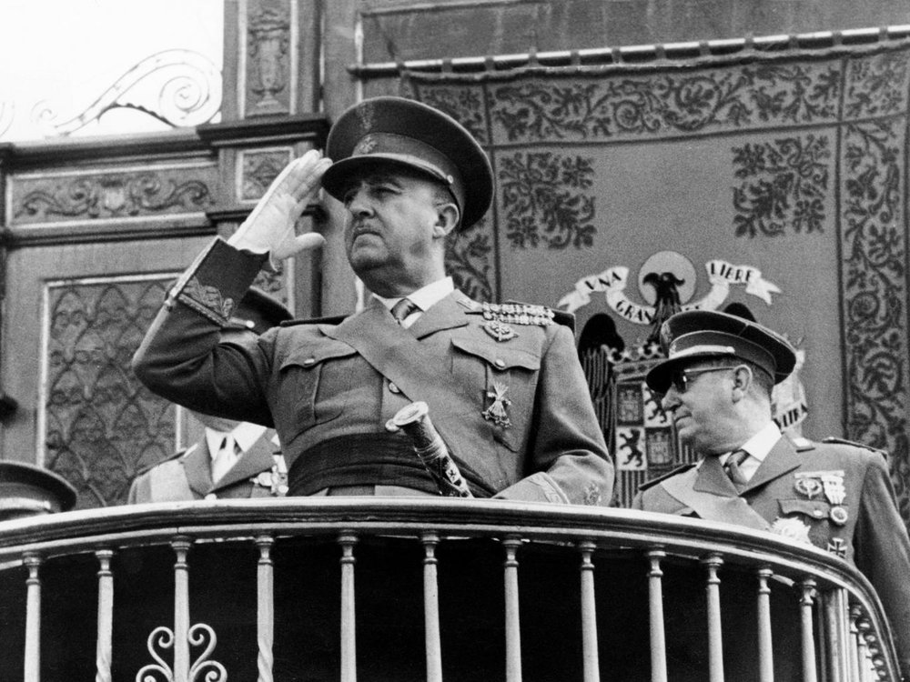 The former dictator of fascist Spain, Gen. Francisco Franco, forbade any attempts at Catalonian autonomy which has created lasting resentment, photo from AFP/Getty