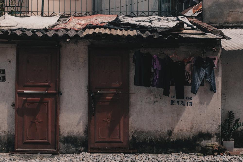 Railside living along Hanoi's Train Street