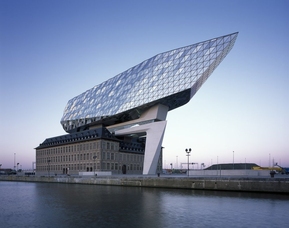 The Antwerp Port House - commissioned for by the Port Authority of Antwerp, photo from zaha-hadid.com