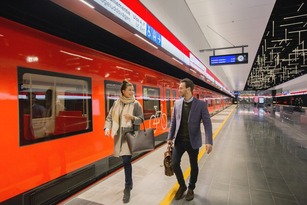 The new Lansimetro Extension, photo from hsl.fi