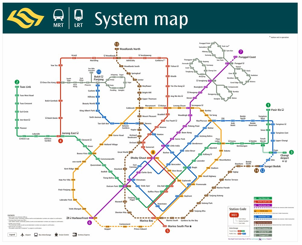 The future map of the MRT with lines under construction slated to be finished by 2025, photo from LTA Singapore