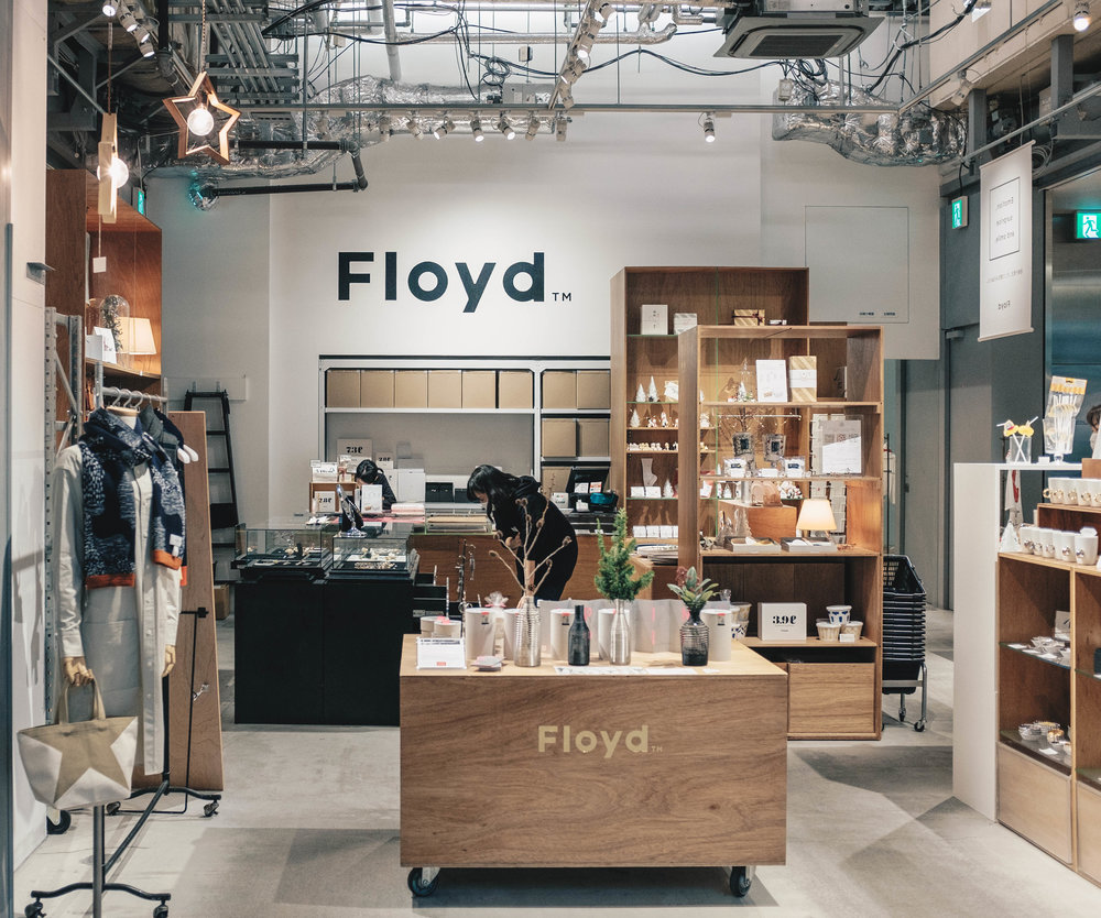 Floyd, a lifestyle goods retailer sits in Kitte, a stonethrow away from Tokyo Station and the Marunouchi District