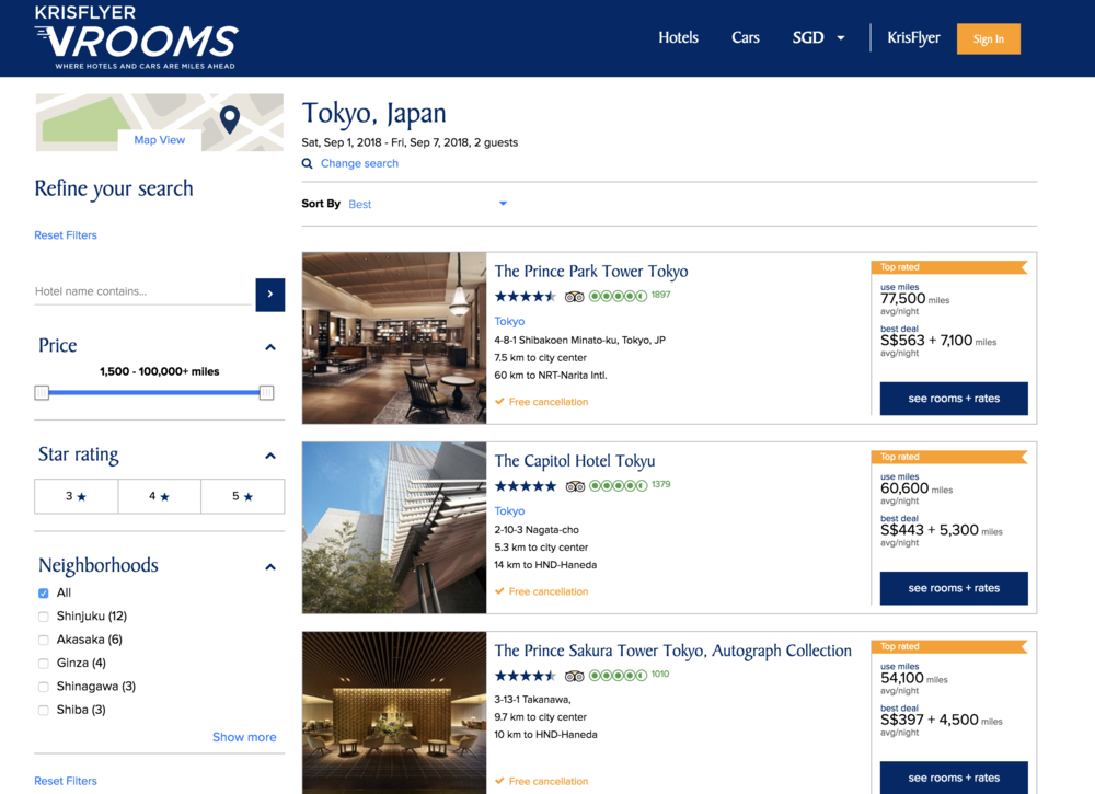 vRooms does present nice properties to stay at but its no where as comprehensive as other OTA competitors