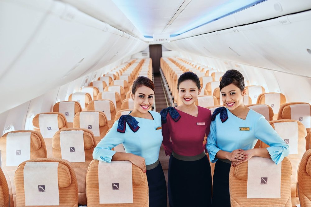 The SilkAir crew operate narrowbody jets to various leisure destinations across the region, photo from  Singapore Airlines