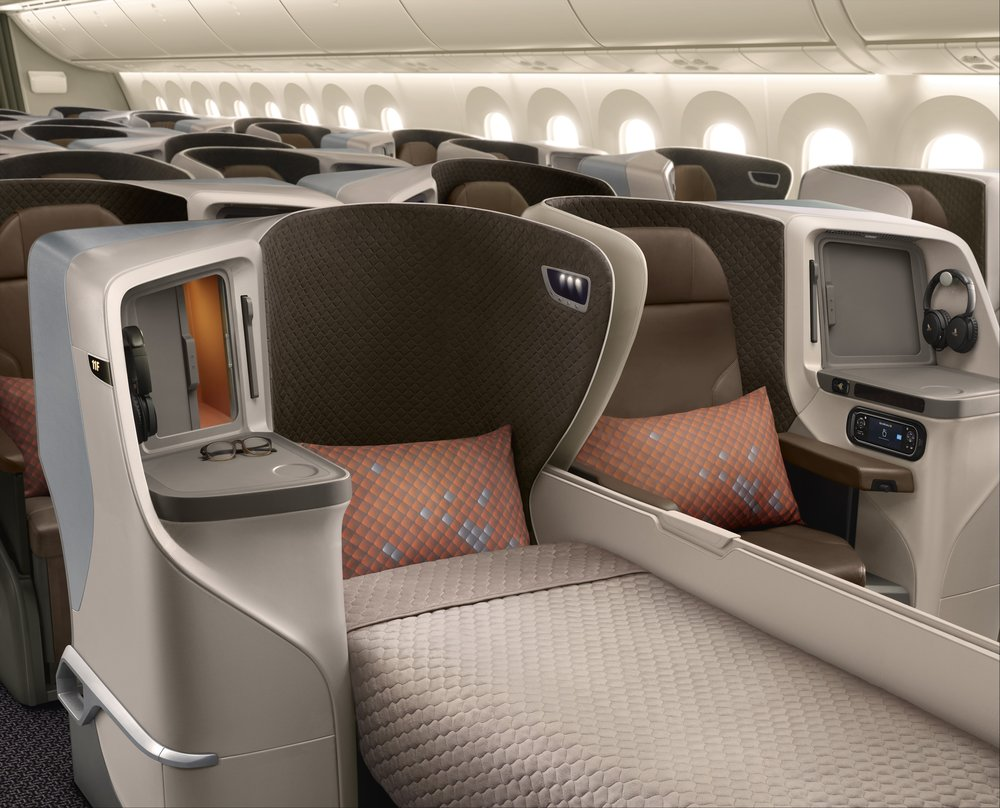 Out with the old and in with the new - will SilkAir's jets adopt a similar seat design to the new SQ 787-10s?,  photo from Singapore Airlines