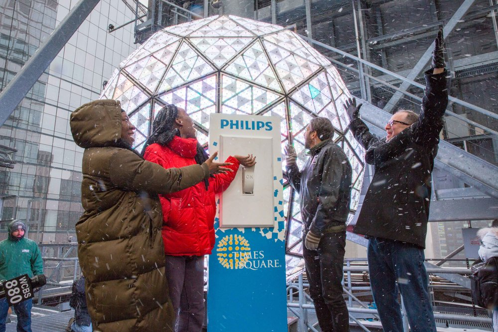 The iconic Times Square Ball, photo from  TimesSquareBall