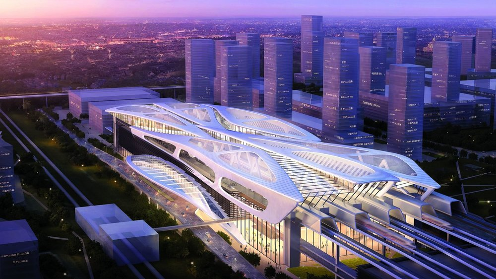 A mockup of what could have been the future Bandar Malaysia Station (serving KL) on the proposed Singapore - KL high speed rail link,  photo from the Straits Times