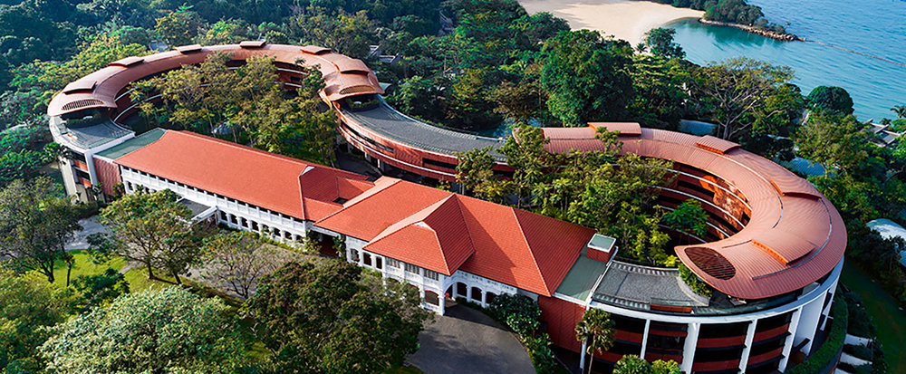The famed and costly Capella Hotel is one of the most luxurious properties on the island and pretty much the rest of Singapore, photo from Capella