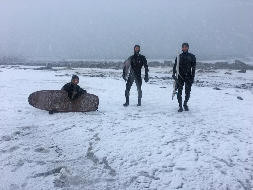 Alex, Mike and Eivind enjoying a nice beach day
