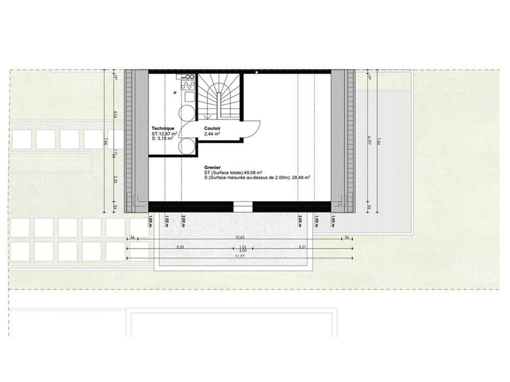 Vue en plan 2ième étage