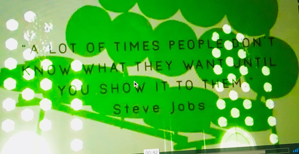 A LOT OF TIMES PEOPLE DON'T KNOW WHAT THEY WANT UNTIL YOU SHOW IT TO THEM _ STEVE JOBS